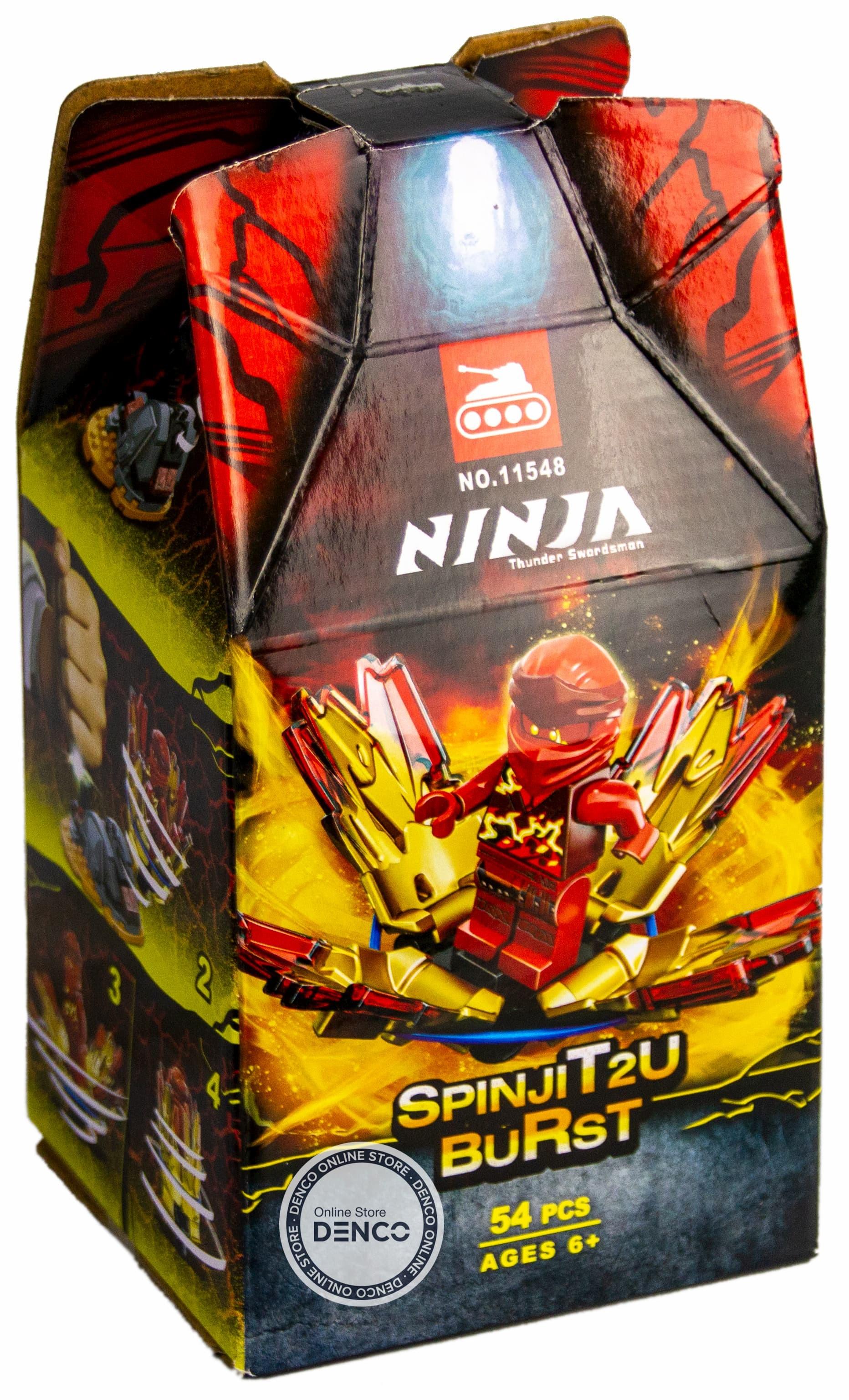 Конструктор Lari Ninja «Шквал Кружитцу-Кай» 11548 (НиндзяГо 70686) / 54 детали