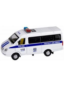 Машинка металлическая Wanbao 1:43 ГАЗель 3231: Police» 16 см., 6173BD, инерционная, свет, звук