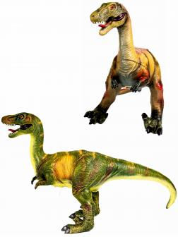 Фигурка динозавра «Велоцераптор» 65 см., Q9899-510A, из термопластичной резины, со звуковыми эффектами / Микс