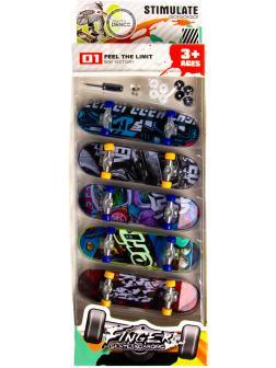 Набор скейтов для пальцев (Фингерборды) с отверткой BB502D / 5 шт.