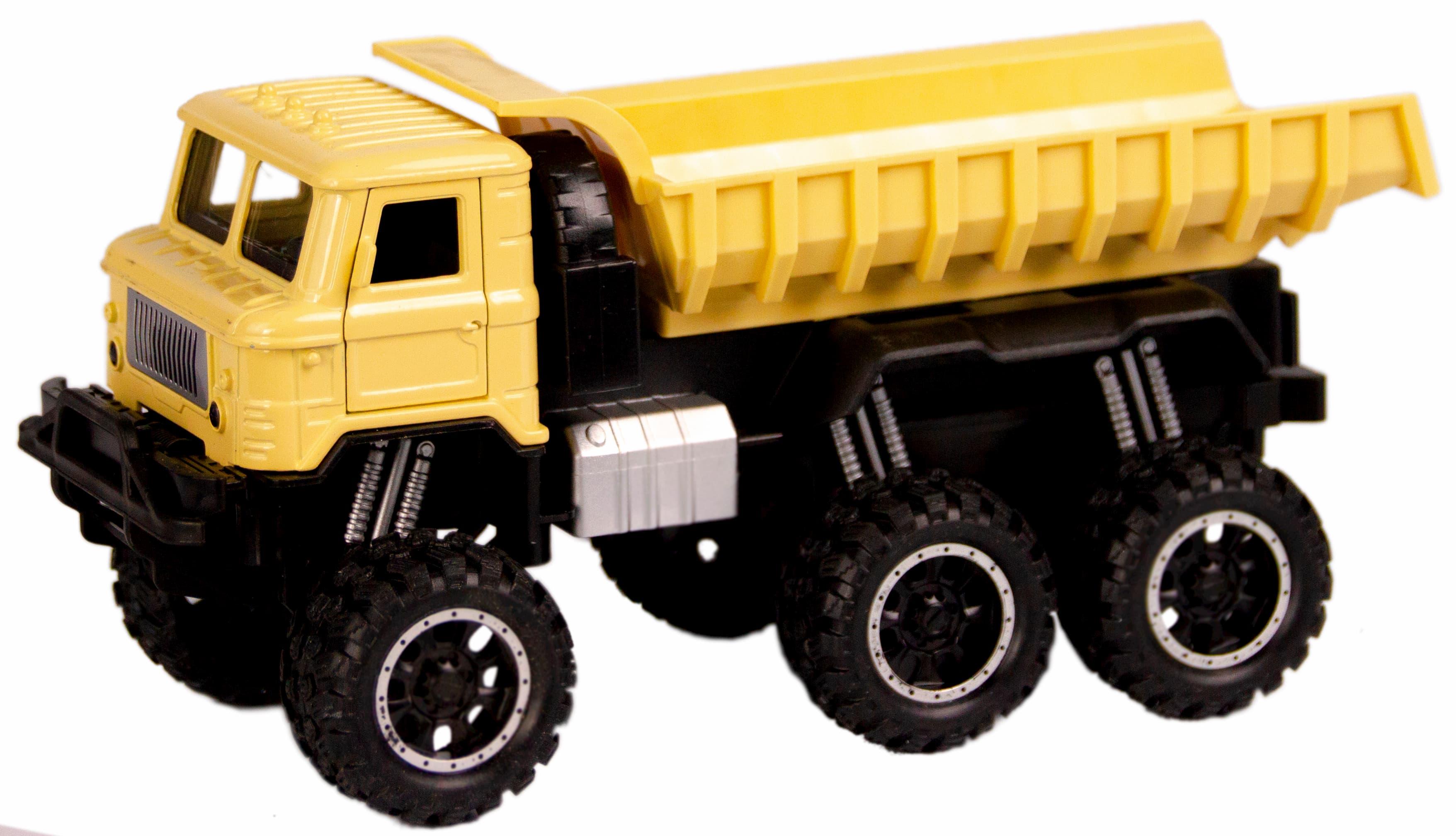 Металлическая машинка WGT Car 1:32 «Грузовик ГАЗ-66: внедорожник самосвал» 2216-15BA, Свет, Звук / Песочный