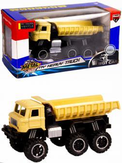 Металлическая машинка WGT Car 1:32 «Грузовик : внедорожник самосвал» 2216-15BA, Свет, Звук / Песочный