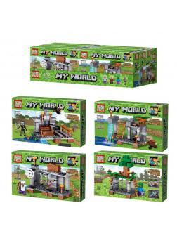 Набор конструкторов «My World» 62301 Minecraft / 4 шт.