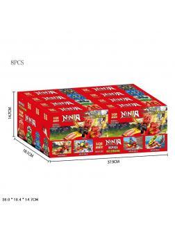 Конструктор «Ninja» 61202 (НиндзяГо) комплект 4 шт.