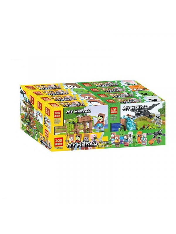 Набор конструкторов «My World» 62202 Minecraft / 4 шт.