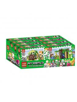 Набор конструкторов «My World» 62201 Minecraft / 4 шт.