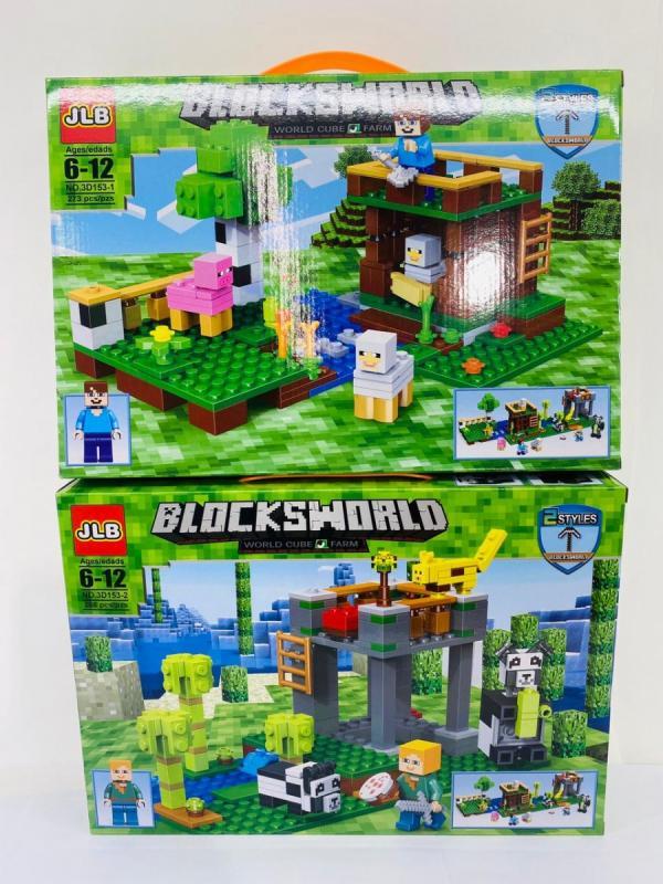 Набор конструкторов «My World» 3D153-1/2 Minecraft / 2 шт.