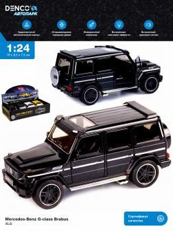Машинка металлическая XLG 1:24 «Mercedes-Benz G-class Brabus» M923Z 19 см. инерционная, свет, звук / Черный