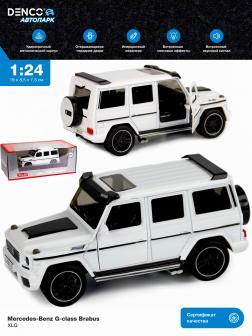 Машинка металлическая XLG 1:24 «Mercedes-Benz G-class Brabus» M923Z-1 19 см. инерционная, свет, звук в коробке / Белый
