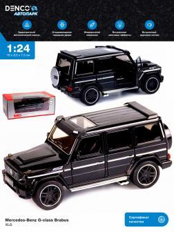 Машинка металлическая XLG 1:24 «Mercedes-Benz G-class Brabus» M923Z-1 19 см. инерционная, свет, звук в коробке / Черный