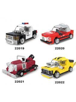 Конструктор «Мини-гоночные машины» 22019-22022 комплект 4 шт.