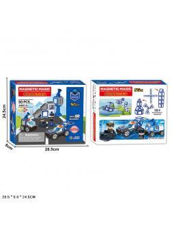 Конструктор магнитный Magical Magnet «Удивительная Полиция» LQ663 / 50 деталей
