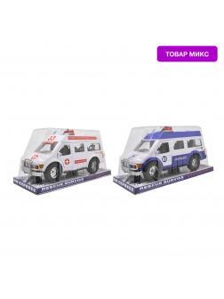 Машинка пластмассовая «Милиция / Скорая помощь» В033 инерционная / Микс