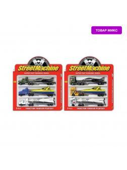 Набор металлических машинок Street Machine «Трейлер с прицепом» АРТ2002 3 шт. / Микс