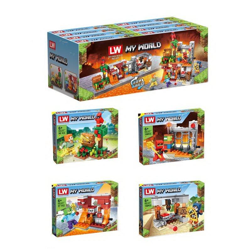 Набор конструкторов «My World» 417 Minecraft / 4 шт.
