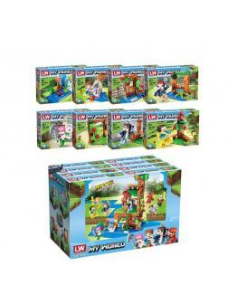 Набор конструкторов «My World» 418 Minecraft / 8 шт.