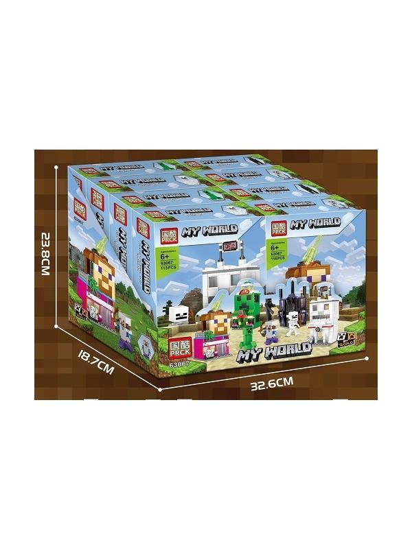 Набор конструкторов «My World» 63067 Minecraft / 4 шт.