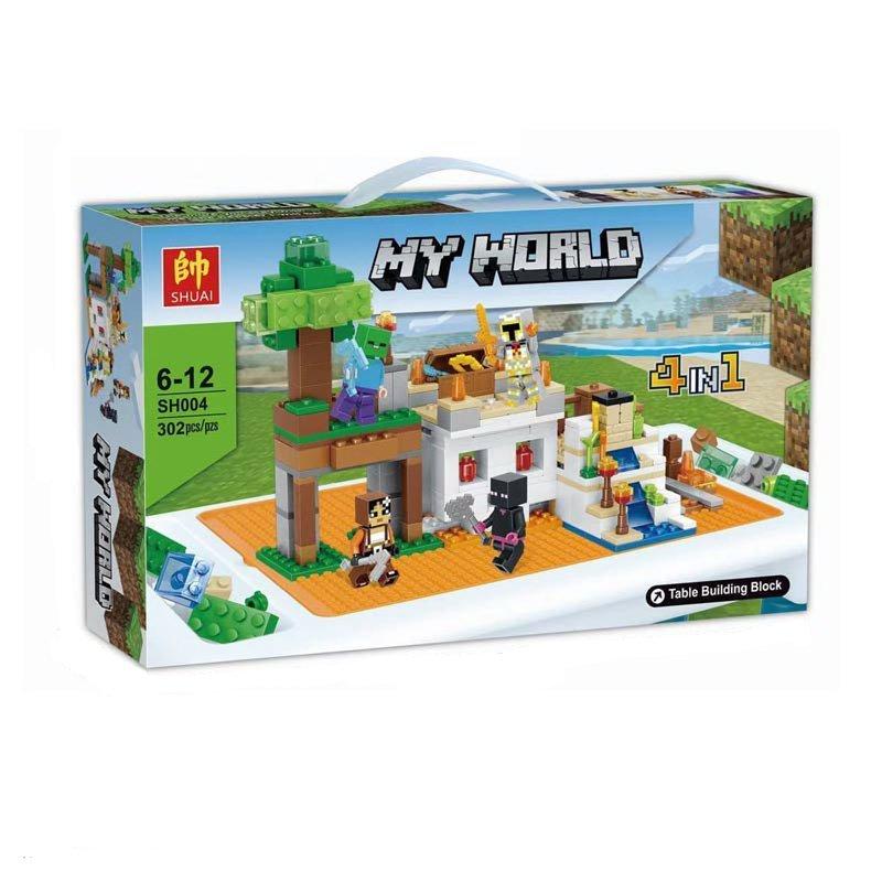 Конструктор «My World» SH004 Minecraft / 302 детали