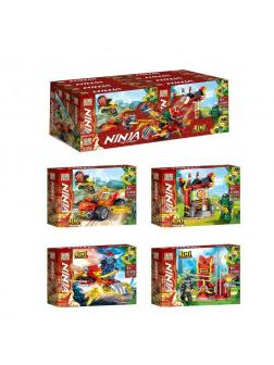 Конструктор «Ninja» 61086 (НиндзяГо) / комплект 4 шт.