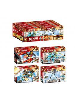 Конструктор «Ninja» 522 (НиндзяГо) / комплект 4 шт.