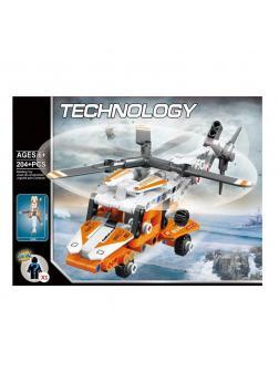 Конструктор «Грузовой вертолет» 834 (Technic) / 204 детали