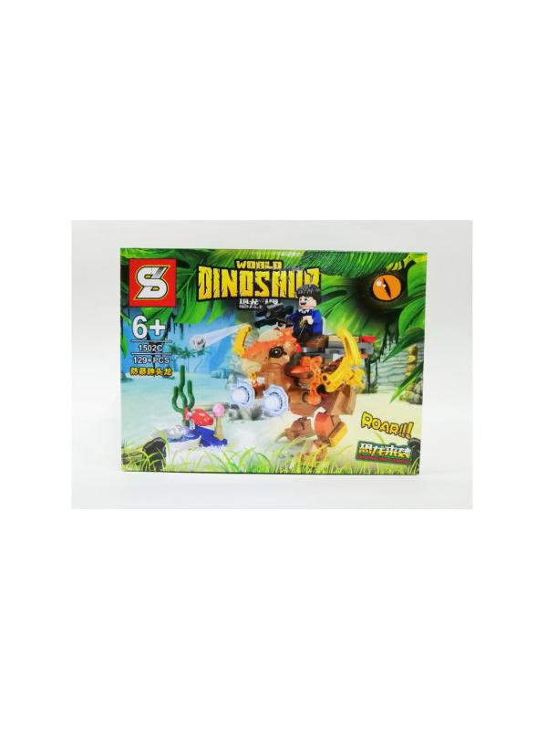Конструктор Sheng Yuan «Мир Динозавров» 1502ABCD (Jurassic World) / 4 шт.