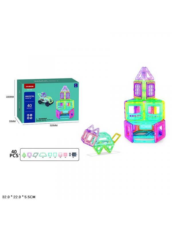 Конструктор магнитный Magical Magnet «Магнитный Домик» 7215 / 40 деталей