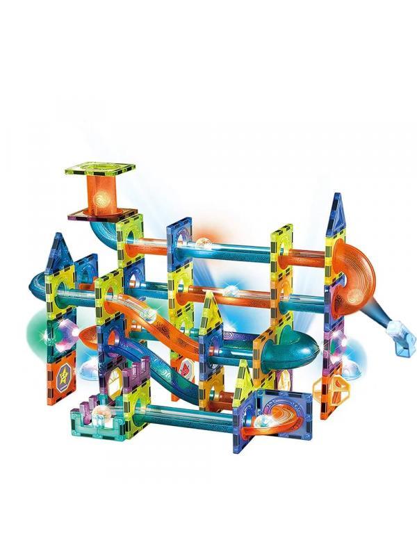 Конструктор магнитный со светом Magical Magnet «Светящийся Аттракцион» 2302 / 110 деталей