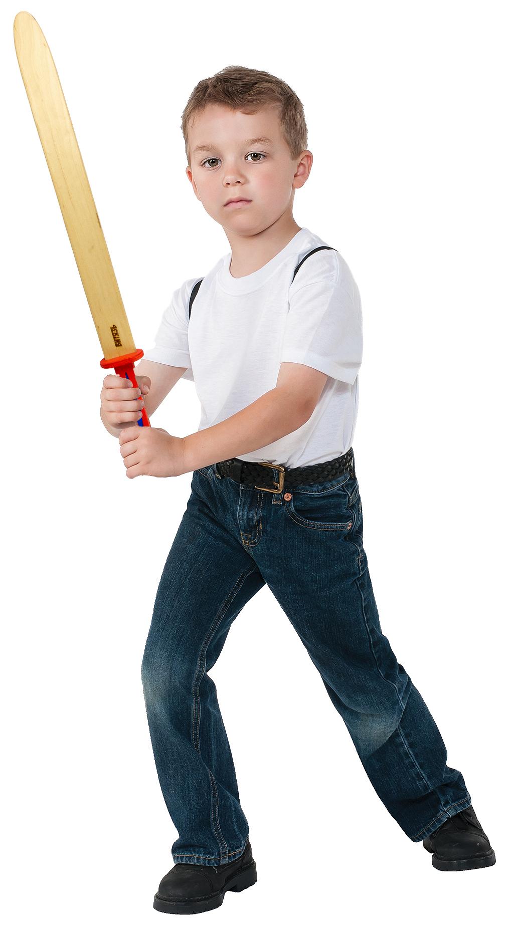 Детский деревянный меч «ВИТЯЗЬ» 60 см. / Зеленый