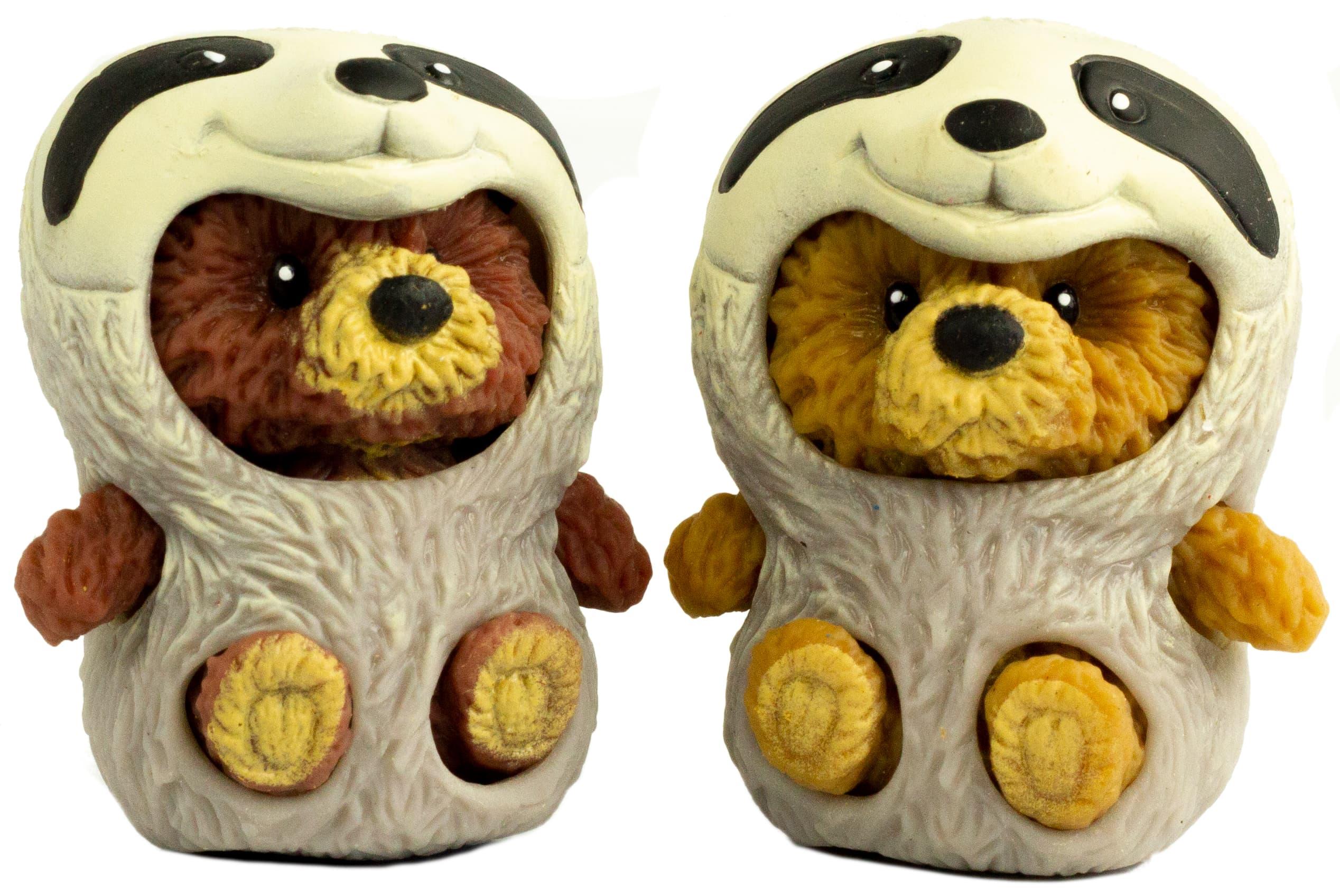 Фигурки-тянучки «Медвежата в костюмах Енота и Ежика» из термопластичной резины, 5 см., 2 шт. в пакете / A223B-DB
