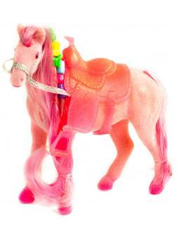 Детская кукольная игрушечная фигурка «Лошадка Принцессы» 3309 для девочек, 10 см. / Розовая