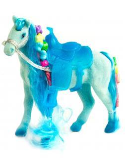 Детская кукольная игрушечная фигурка «Лошадка Принцессы» 3309 для девочек, 10 см. / Голубая
