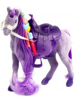 Детская кукольная игрушечная фигурка «Лошадка Принцессы» 3309 для девочек, 10 см. / Фиолетовая