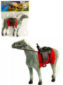Детская кукольная игрушечная фигурка «Лошадка» 33-34-35, для девочек, 17 см. / Серая