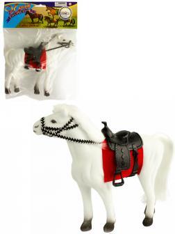 Детская кукольная игрушечная фигурка «Лошадка» 33-34-35, для девочек, 17 см. / Белая