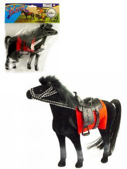 Детская кукольная игрушечная фигурка «Лошадка» 33-34-35, для девочек, 17 см. / Черная