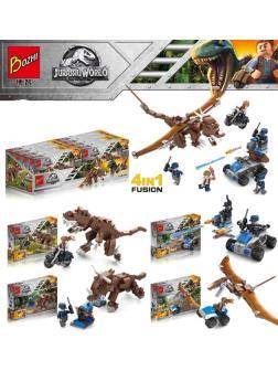 Набор 4 динозавра с фигурками Парк Юрского периода (Jurassic World 244-1234)