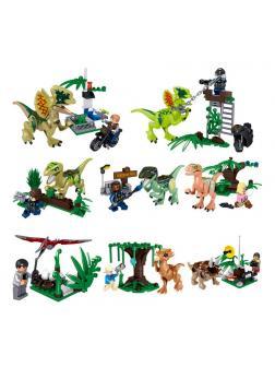 Набор Ll 8 динозавров с фигурками Парк Юрского периода 39160 (Jurassic World )
