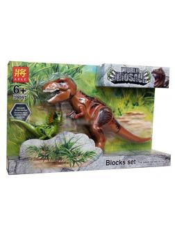 Набор Коричневый динозавр и зеленый Парк Юрского периода (Jurassic World 39097-2)