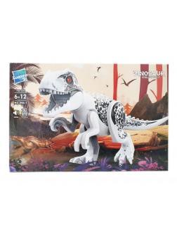 Конструктор Zuanma 2 фигурки с белым динозавром Индоминус Рекс со звуком 046-1 (Jurassic World)