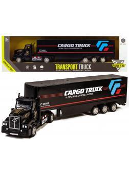 Металлическая машинка KIMI 1:48 «Трейлер Cargo Truck» K620 33 см., фрикционный