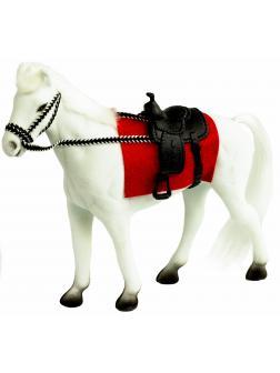 Детская кукольная игрушечная фигурка «Лошадка» Н37, для девочек, 21 см. / Белый