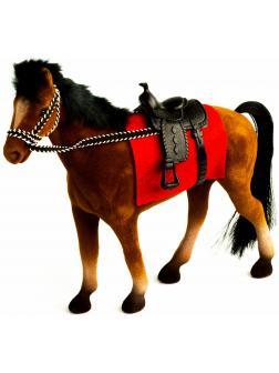 Детская кукольная игрушечная фигурка «Лошадка» Н37, для девочек, 21 см. / Коричневый