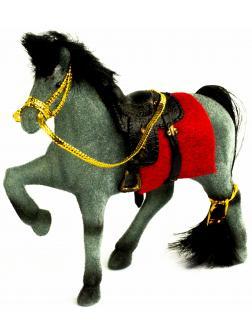 Детская кукольная игрушечная фигурка «Лошадка» 2549-8-9, для девочек, 12 см. / Серый