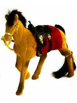 Детская кукольная игрушечная фигурка «Лошадка» 2549-8-9, для девочек, 12 см. / Коричневый