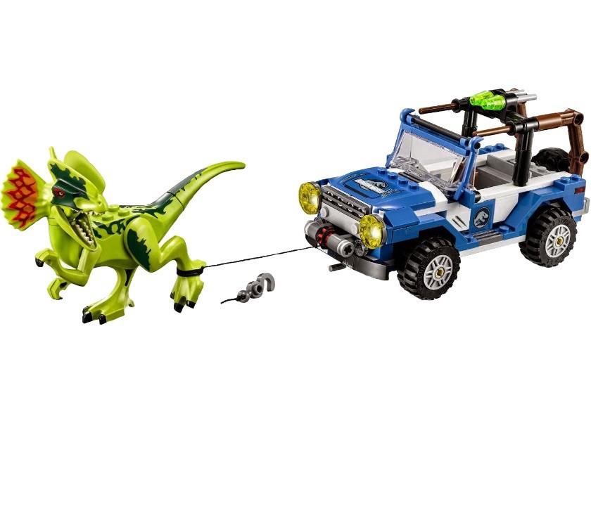 Конструктор Ll «Засада на Дилофозавра» Парк Юрского периода (Jurassic World 79093) / 259 деталей