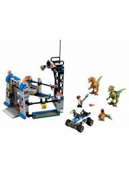 Конструктор Ll «Побег Раптора» Парк Юрского периода 79180 (Jurassic World 75920), 406 деталей