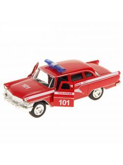 Металлическая машинка Play Smart 1:48 «Чайка. Пожарная» 12 см 6410-C Автопарк, инерционная