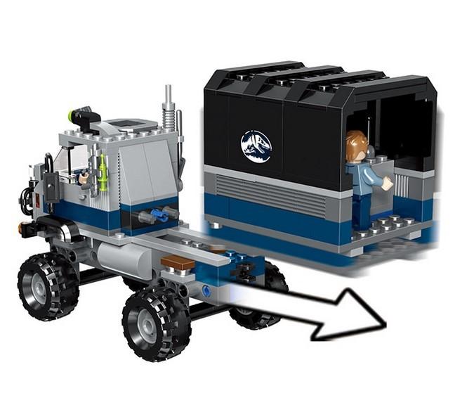 Конструктор Lari «Побег в гиросфере от Карнотавра» 10926 (Jurassic World 75929) / 595 деталей