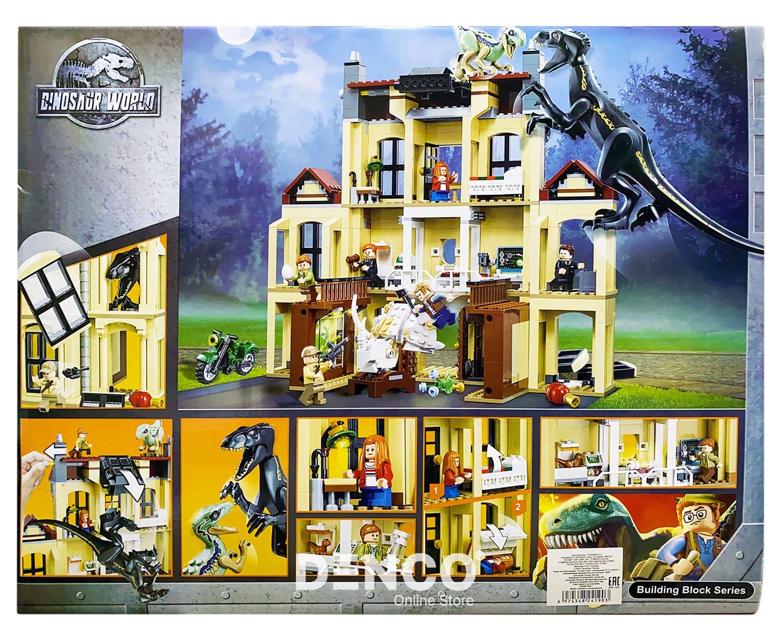 Конструктор Bl «Нападение Индораптора в поместье Локвуд» 10928 (Jurassic World 75930) / 1046 деталей